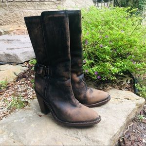 Cole Haan Distressed Leather Boots